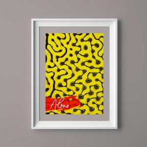 Black spots with yellow background 4