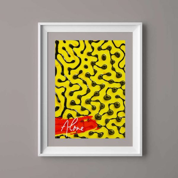 Black spots with yellow background 1