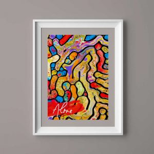 An abstract maze painting with oil painting 5